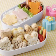BREAD CUTTER FOOD CUTTER - Bento Lunch box Japan style kawai!!! | eBay on http://weheartit.com/entry/35418003/via/pinkpurpledarling