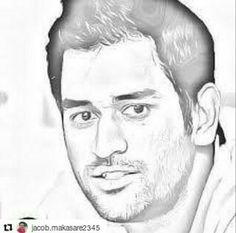 Pencil Sketch Images, Pencil Art Drawings, Pencil Art Picture, Ms Dhoni Wallpapers, Shadow Painting, Cricket Wallpapers, Peace Art, Buddha Art, Portrait Art