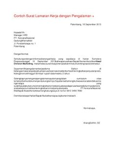 contoh application letter teknik sipil