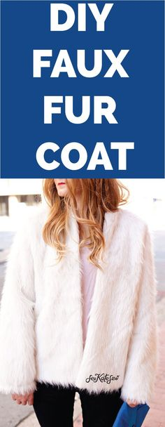 Faux Fur Coat Tutorial. Maybe I will have a teenager at some point who is long and leggy and be into this. Cuz if I made this for myself I guarantee I'd look like a miniature yeti.
