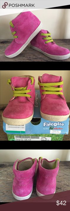Naturino girls suede pink high top sneakers New in the box sneakers. European size 23 (us toddler size 7) naturino Shoes Sneakers