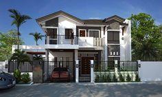 Dream house Modern Minimalist House, Modern House Design, Mid-century Modern, House Exteriors, Facade House, Design Homes, Floor Space, Castor Oil, Building Design