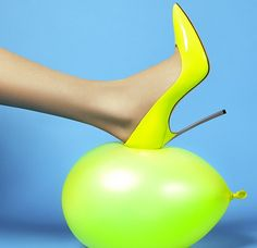 Spring Shoes: Striking Neon Iconic Casadei 'Blade' Pumps