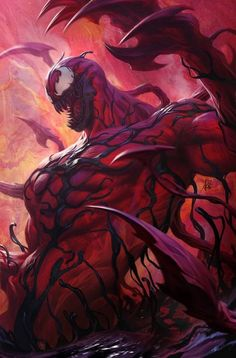 "Carnage by Stanley ""Artgerm"" Lau Marvel Comics. Venom Comics, Marvel Comics Art, Marvel Heroes, Marvel Characters, Marvel Avengers, Venom Spiderman, Marvel Venom, Spiderman Art, Amazing Spiderman"