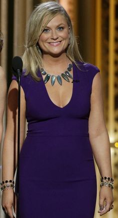 Great statement necklace - and we love labradorite! Amy Poehler wears Irene Neuwirth jewelry on the 2015 Golden Globe Awards show - Gorgeous Labradorite piece - so eye catching. Peplum Dress, Bodycon Dress, Celebrity Jewelry, Amy Poehler, Eva Green, Celebrity Red Carpet, Golden Globes, Style Inspiration, My Style