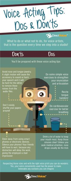 #voiceover Do's & Dont's