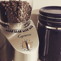 Got a pretty awesome new burr grinder #coffee #burr #coffeegrinder #capresso #coffeegram #coffeebean #coffeeporn