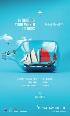 "Cathay Pacific ""Unexpectedly Familiar"" Boston Launch Campaign - Graphis"