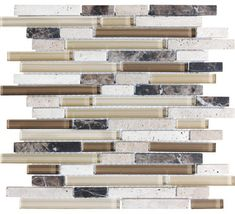 Brown Beige Tones Wall Tile - contemporary - kitchen tile - Lowe's   white beige brown grey and black YES