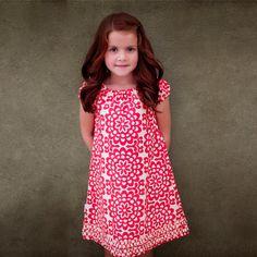 Girls Jemma Peasant Dress  Amy Butler Lotus by pitpatwaddlepat, $37.00
