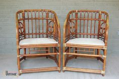 Brighton Style Rattan Chairs at Pursuing Vintage