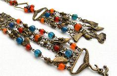 Charm bracelet  Charm pendant  Agate jewelry  by insoujewelry, $55.00
