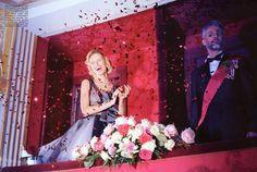 """Royal Couture"" with Karolina Kurkova by Miles Aldridge for Vogue Italia March 2012"