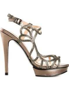 'Fey' embellished strappy sandals