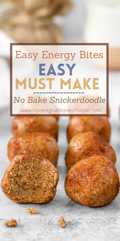 This is the perfect Fall & Winter no bake healthy treat. Love snickerdoodles but want a healthier option? These snickerdoodle cookie dough bites are by far the answer. They are healthy, delicious and taste JUST like snickerdoodle cookie dough. Enjoy!