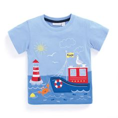 Lighthouse T-Shirt | JoJo Maman Bebe