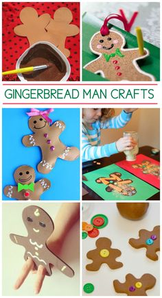 So many adorable gingerbread man crafts to make with the kids!