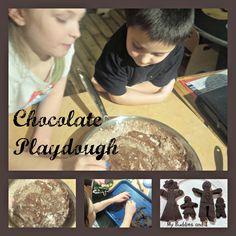 The Best Chocolate Playdough Recipe for Preschool