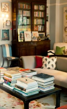Home tour: Inside the charming, book- and art-filled Manhattan home of creative design team Kate and Andy Spade...