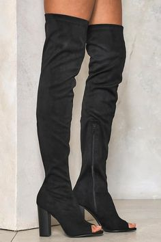 Deep Dark Secret Thigh-High Boot