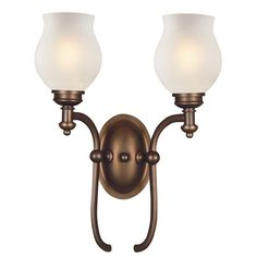Z-Lite Hollywood Collection Olde Bronze Finish 2 Light Wall Sconce