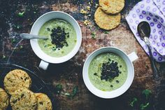 Creamy Broccoli Soup & Corn Biscuits by Green Kitchen Stories