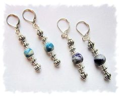 Sterling Silver, Metal and Clay Bead Dangling Earrings by ClayWorksbyTRhoads, $7.99