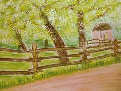 Original Water Color Spring Time at Old by HeritageWatercolors, $22.00