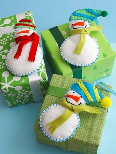 Simple Snowmen Ornaments