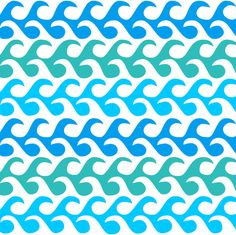 waves fabric by dennisthebadger on Spoonflower - custom fabric green blue aqua teal turquoise