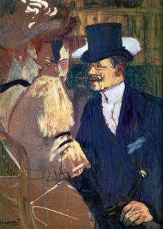 Henri de Toulouse-Lautrec (French, The Englishman (William Tom Warrener, at the Moulin Rouge, The Metropolitan Museum of Art, New York. Bequest of Miss Adelaide Milton de Groot 1967 Henri De Toulouse Lautrec, Anime Comics, Artist Canvas, Canvas Art, The Englishman, Renoir, Metropolitan Museum, Monet, Art History