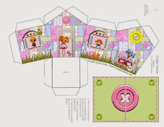 Lalaloopsy: House Shapped Free Printable Box. (Lots of other little houses on this site)