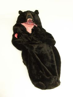 I didn't know what to put this under, but I had to have it. fluffy bear sleeping bag? get outta town.