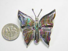 Vintage Sterling Abalone Taxco Butterfly by GrandVintageFinery, $15.00