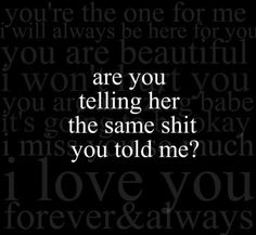 Of course you are...you were telling 2 people you loved them & thats to my knowledge!