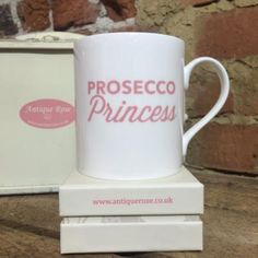 Mug: Fine Bone China Chunky - Prosecco Princess - Pink