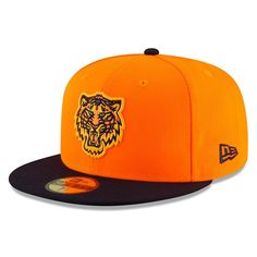 Men s Detroit Tigers New Era Orange Navy 2018 Players  Weekend On-Field  59FIFTY b46c693177b