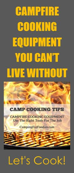 Campfire Cooking Equipment You Can't Live Without! Yes, we know it is a bold statement! But, this campfire cooking equipment is so awesome, you really will wonder how you ever cooked on campfires without it. Just when you thought campfire cooking could not be more fun, let's fire up the flames and get cooking! Camping Hacks, Camping Tips, RV Camping, Tent Camping, Brilliant Camping Ideas!