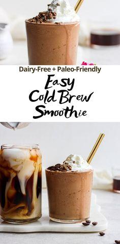 Coffee Smoothie Recipes, Smoothie Drinks, Coffee Recipes, Coffee Shake, Coffee Drinks, Iced Coffee, Easy Coffee, Paleo Coffee, Easy Smoothies