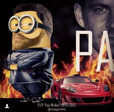Paul Walker Memorial Minion Stamps
