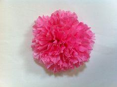 Pink Chrysanthemum Flower Hair Clip by minkyfox on Etsy, $3.00