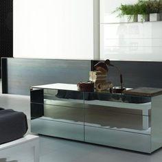 Comò a specchio Boxes Porro - design Piero Lissoni