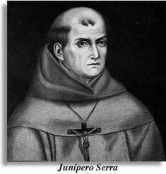 On August 28, 1784, the founder and first president of the California mission system, Father Junìpero Serra, died at the age of 70. Supervising the building of the missions, Serra joined the Portolà expeditions in 1769 and founded 9 of California's missions for Spain.