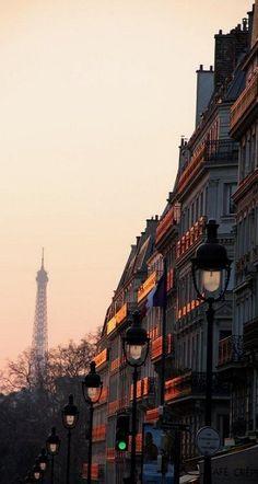 Dusk, Paris, France photo via italian