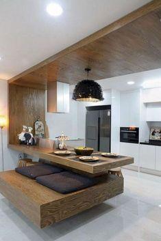 Sensual Minimalist Kitchen Family Ideas 6 Helpful Tips: Minimalist Kitchen Bar Interiors minimalist interior wood window. Minimalist Home Interior, Minimalist Kitchen, Minimalist Bedroom, Minimalist Decor, Minimalist Design, Minimalist Apartment, Minimalist Living, Estilo Interior, Kitchen Lighting Design