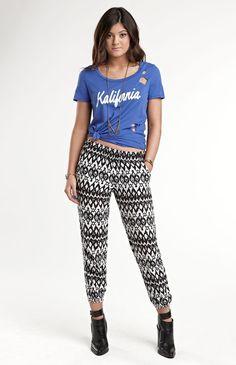 Kendall  Kylie Printed Pants #KandK4PacSun #PacSun