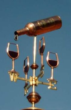 Clever weathervane, perfect for a vineyard... ~~ Houston Foodlovers Book Club