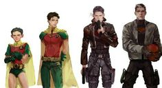Jason Todd | the 2nd from the right is daaaamn fine