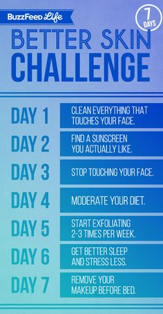 Here's your skin care schedule: | Take BuzzFeed's 7-Day Better Skin Challenge