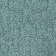 Damask Teal wallpaper by Casadeco